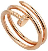 Cartier Pink Gold and Diamond Double Juste un Clou Ring