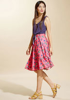 ModCloth Just This Sway Midi Skirt in Float in 2X