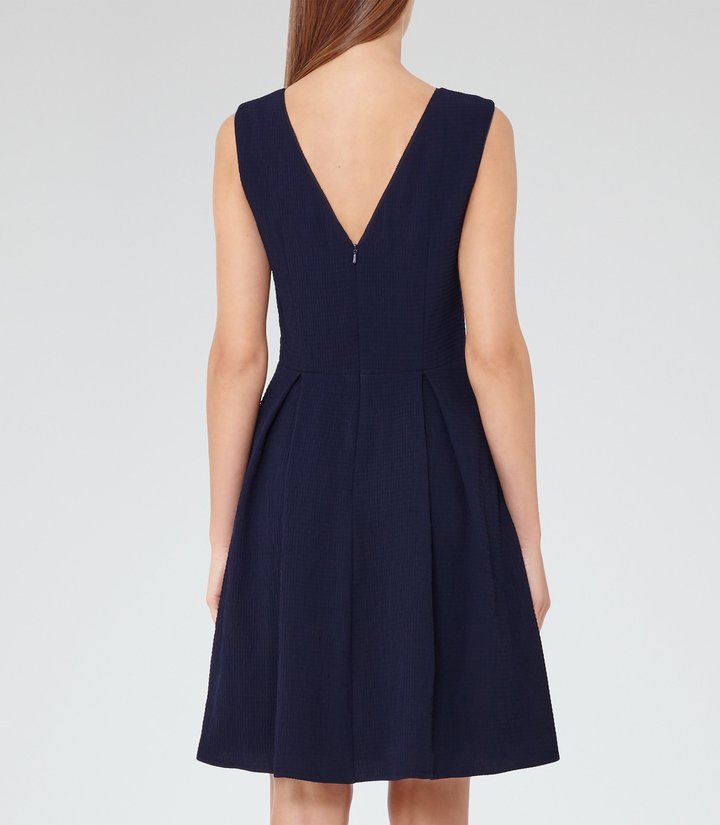 Reiss Marlowe Sheer-Panel Fit And Flare Dress