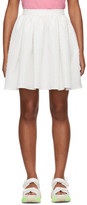 MSGM White Pleated Miniskirt