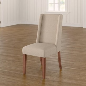 Three Posts Granderson Upholstered Dining Chair Upholstery Color: Cream