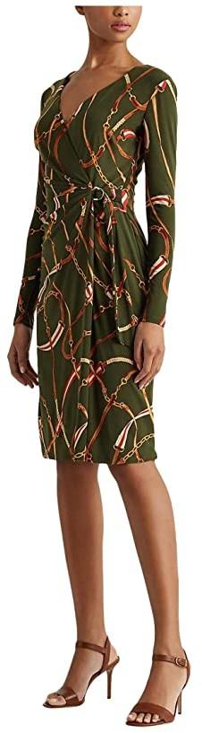 Lauren Ralph Lauren Casondra Dress (Olivia/Red Multi) Women's Dress