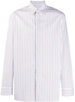 Maison Margiela Pinstriped Fitted Shirt