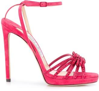 Jimmy Choo Kaite 120mm crystal-embellished sandals