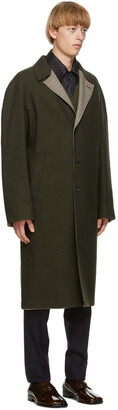 Maison Margiela Reversible Green Wool Coat