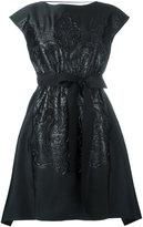 Fendi belted dress - women - Silk/Polyester - 40