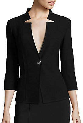 St. John Women's Micro Boucle Jacket - Size 0