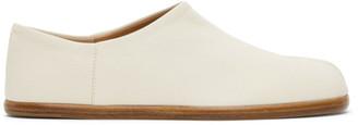 Maison Margiela Off-White Tabi Slip-On Loafers