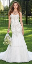 Camille La Vie Metallic Lace Motif Wedding Dress