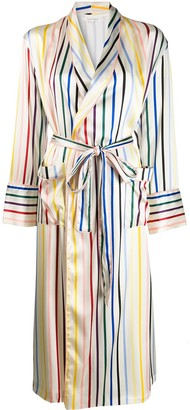 Chinti and Parker Striped Dressing Gown