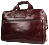 Bosca Men's Double Compartment Leather Briefcase - Brown