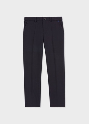 Paul Smith 12-16 Years Navy 'A Suit To Smile In' Wool Pants
