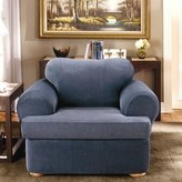 Sure Fit Stretch Stripe Armchair T-Cushion Slipcover