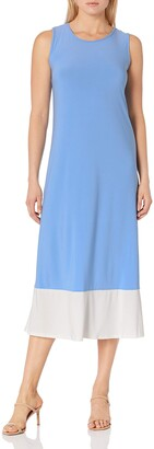 Tiana B Women's Casual Maxi Dress with Trendy Color Blocking Detail