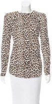 Carven Leopard Print Top