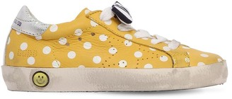 Golden Goose Super Star Polka Dot Leather Sneakers