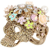Betsey Johnson Betseys Pink Skull Cocktail Ring