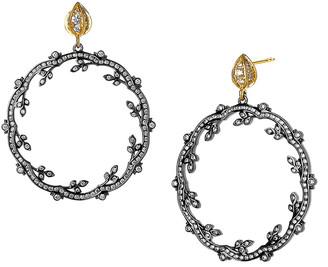Syna Diamond Two-Tone Mogul Twine Earrings