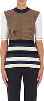 Opening Ceremony Women's Mixed-Stripe Mock-Turtleneck Top