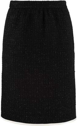 Boutique Moschino Boucle Wool Skirt