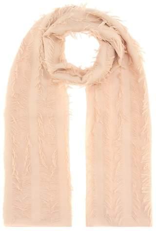 Chloé Fringed wool scarf
