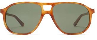 L.g.r Sunglasses - Tangeri Double-bridge Acetate Sunglasses - Tortoiseshell