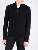 HUGO BOSS Zip-up cotton-jersey sweatshirt