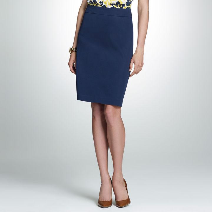 Jones New York Cotton Stretch Slim Skirt