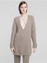 Calvin Klein Collection Cashmere Bouclè Rib Sweater