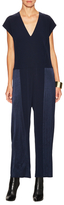 Derek Lam 10 Crosby V-Neck Pleated Dolman Jumpsuit