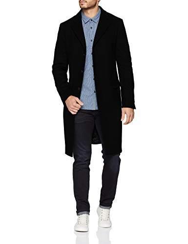 Benetton Men's Coat Suit, (Black 100), (Size: 46)