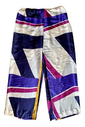 Eres Multicolour Silk Trousers