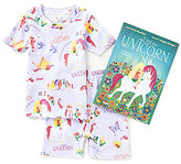 Books To Bed Little/Big Girls 2T-10 Uni the Unicorn Fitted Two-Piece Pajamas & Book Set