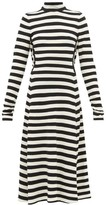 Marc Jacobs Striped Wool-blend Knit Midi Dress - Womens - Black White