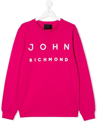 John Richmond Junior TEEN logo printed sweatshirt