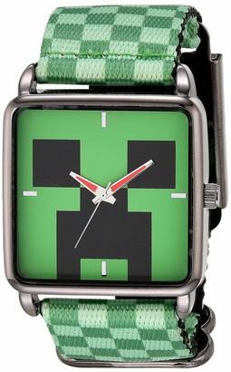 Minecraft Boys' Analog Quartz Watch with Nylon Strap