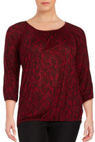 MICHAEL Michael Kors Plus Lace-Print Knit Top
