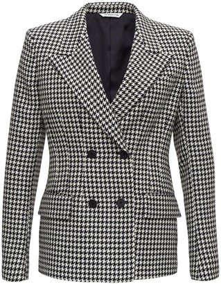 Tonello Double Breasted Pied De Poule Blazer