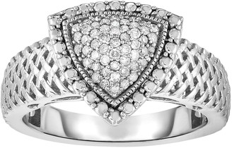 Sterling Silver 1/4 Carat T.W. Diamond Triangle Ring