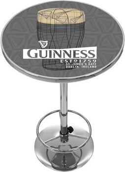 Guinness Trademark Global Line Art Pint Pub Table Trademark Global
