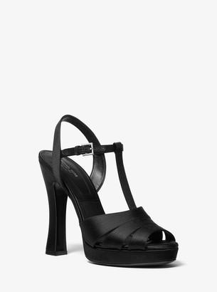 Michael Kors Rosanna Satin Platform Sandal