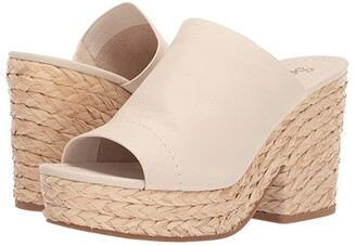 Splendid Theodore (Cream Soft Waxy Leather) Women's Clog/Mule Shoes