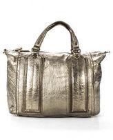 Z Spoke Zac Posen Gold Tone Leather Messenger Crossbody Handbag