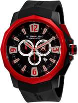 Stuhrling Original Men's 300.332T664 Admiral Swiss Quartz Chronograph Red Bez...