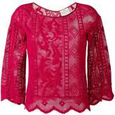 Forte Forte patterned scalloped edge top