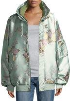 FENTY® PUMA® by Rihanna Reversible Floral-Print Oversized Satin Bomber Jacket
