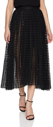 Tracy Reese Women's Full Midi Skirt