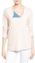 Petite Women's Caslon Stripe Sweatshirt