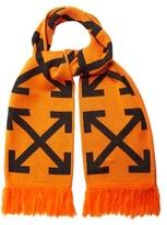 Off-White Diagonals logo-intarsia knit scarf