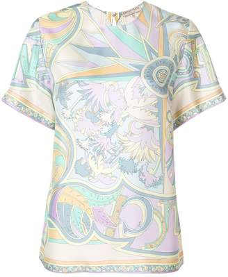 Emilio Pucci printed T-shirt blouse